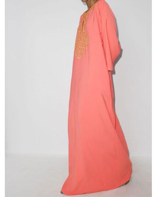 Carolina Herrera エンブロイダリー ドレス Pink