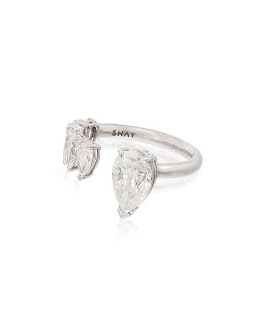 SHAY ダイヤモンド リング 18kホワイトゴールド Metallic
