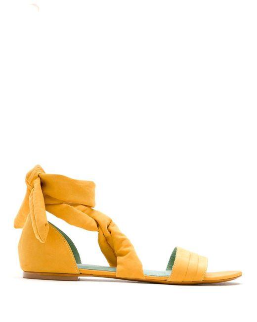 Blue Bird Shoes フラットサンダル Yellow