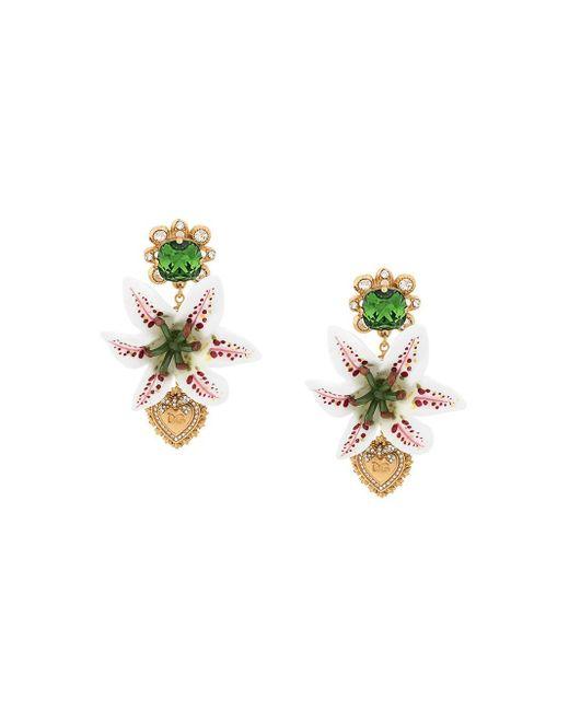 Dolce & Gabbana ドロップ イヤリング Multicolor