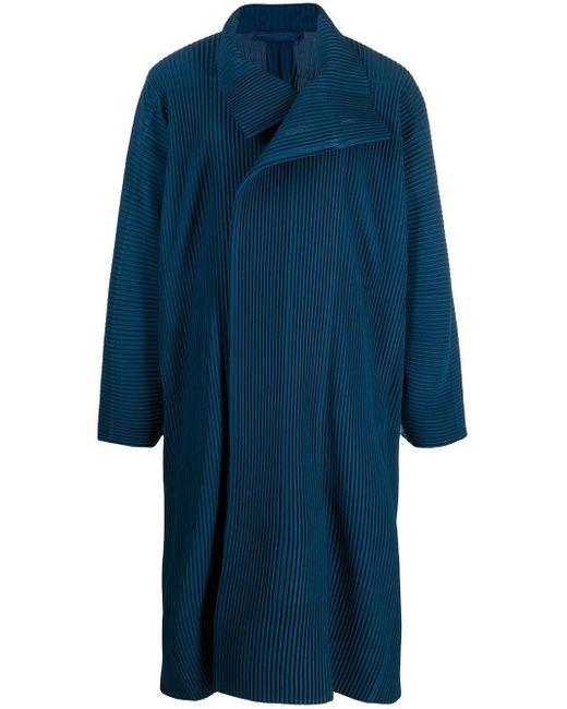 Abrigo oversize plisado Homme Plissé Issey Miyake de hombre de color Blue