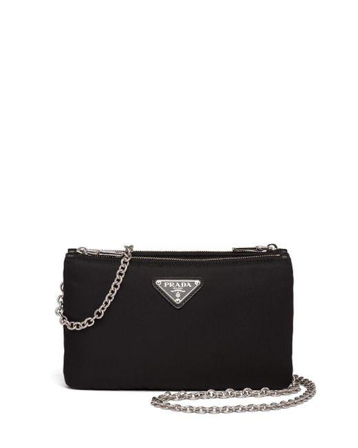 Prada Black Padded Folded Mini Bag