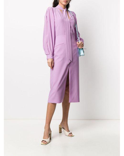 Givenchy ボウタイ ドレス Purple