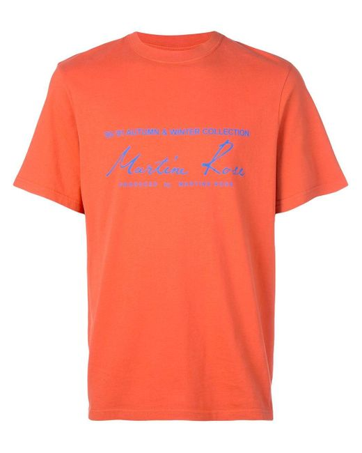 メンズ Martine Rose ロゴ Tシャツ Orange