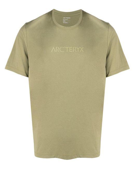 メンズ Arc'teryx Remige Word Tシャツ Green
