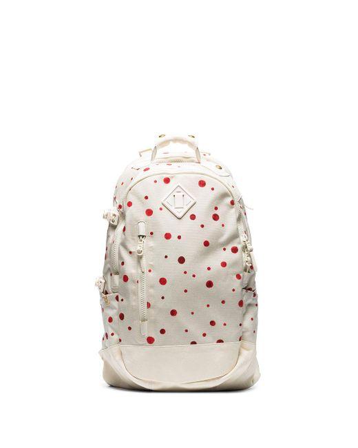 Visvim White Polka Dot Print Nylon Backpack for men