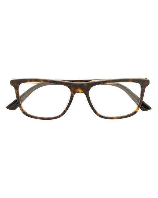 メンズ Gucci スクエア眼鏡フレーム Brown