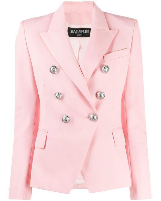 Balmain ダブルジャケット Pink