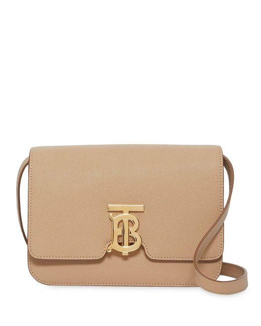 Burberry Tb レザーバッグ S Natural