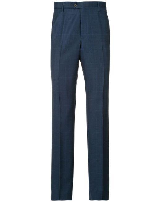 Pantaloni dritti di Gieves & Hawkes in Blue da Uomo