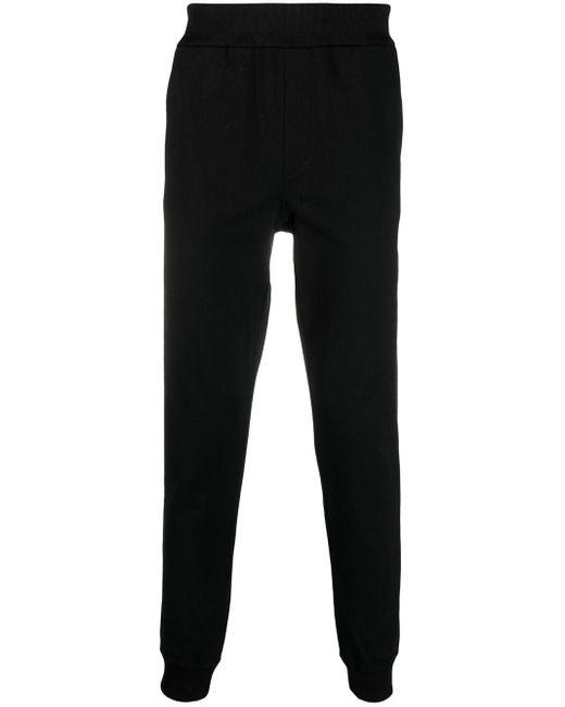 Спортивные Брюки С Вышитым Логотипом Versace для него, цвет: Black