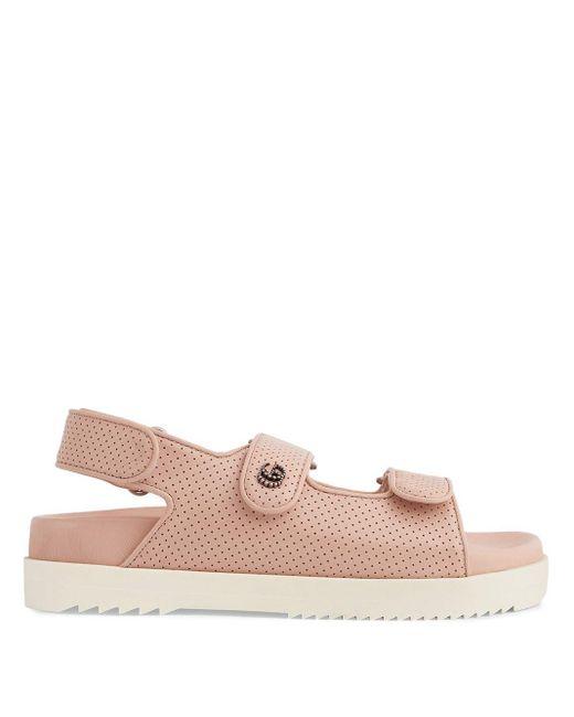 Gucci GG タッチストラップ サンダル Pink