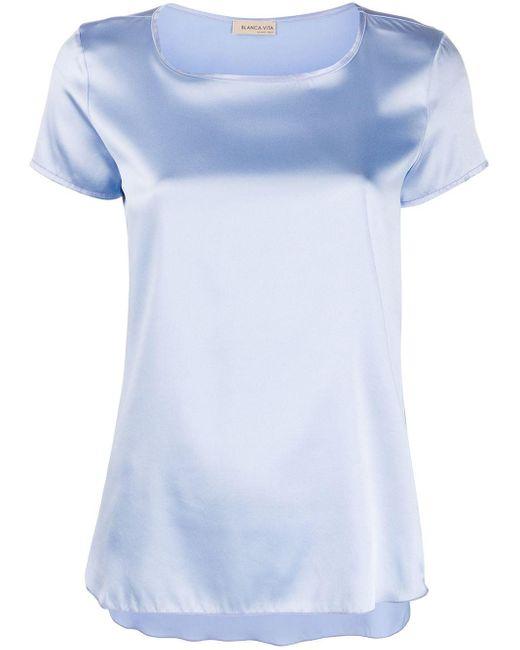Blanca Vita Camiseta de seda Tania de mujer KltVC