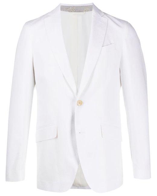 メンズ Etro ペイズリー シングルジャケット White