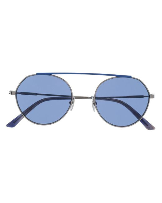 Calvin Klein バイカラー 眼鏡フレーム Blue