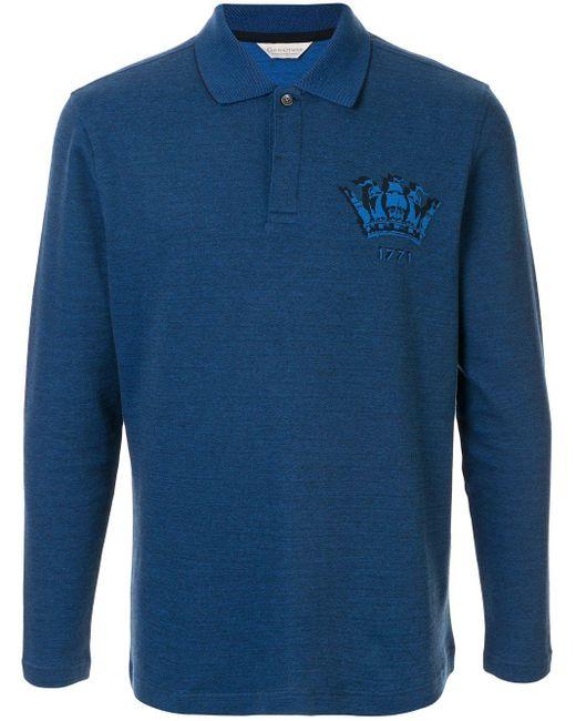 メンズ Gieves & Hawkes ロングスリーブ ポロシャツ Blue