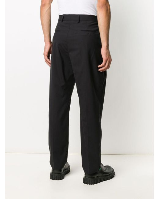 メンズ MSGM テーラード ワイドパンツ Black