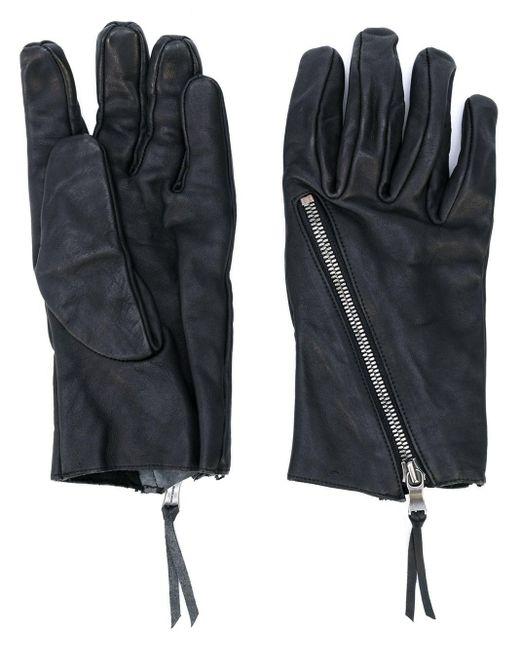 Фактурные Перчатки С Молнией The Viridi-anne, цвет: Black