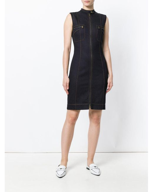 comfort denim tunic dress - Blue Tomas Maier dX87l