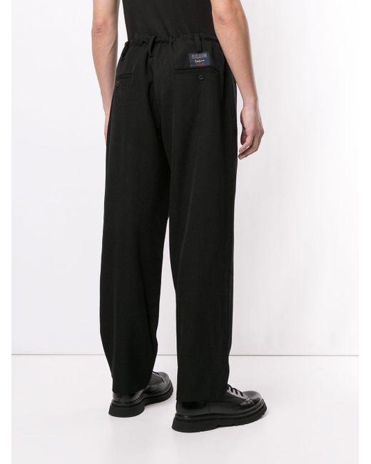 メンズ Yohji Yamamoto ウール パンツ Black