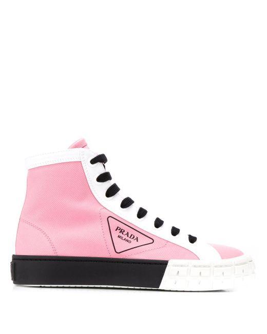 Prada ハイカットスニーカー Pink