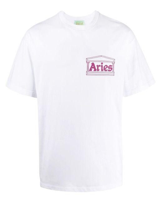 メンズ Aries Vulture Tシャツ White