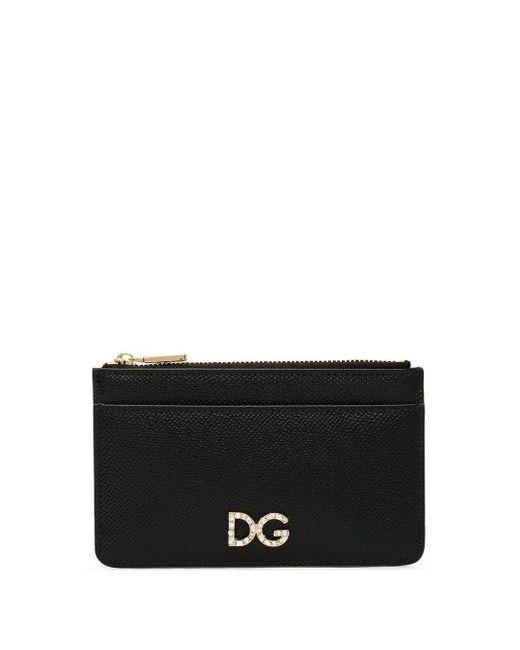 Porte-cartes à logo D&G Millennials Dolce & Gabbana en coloris Black