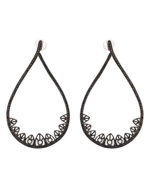 Joelle Jewellery Black Gothic Teardrop Diamond Earrings