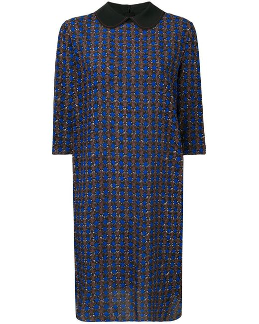 Marni ミクロ パターン ドレス Blue