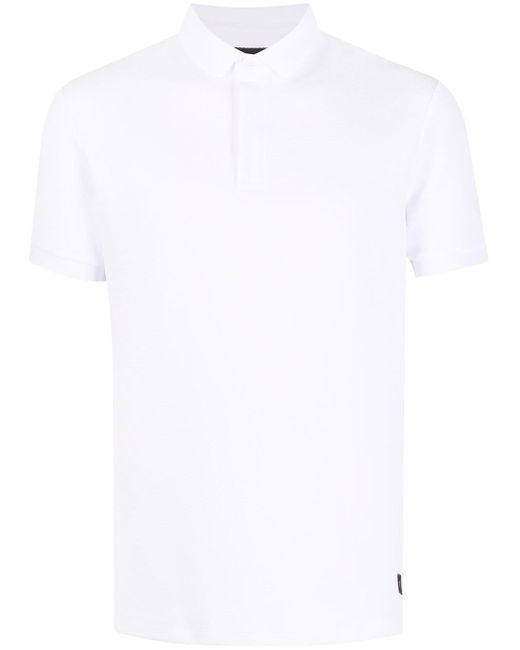 メンズ Emporio Armani ジオメトリック ポロシャツ White