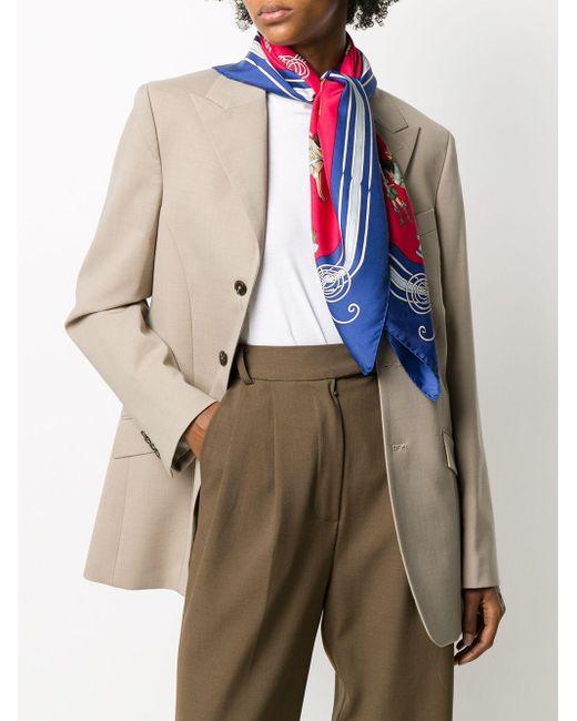 Платок Les Fantaisies Du Roy 2000-х Годов Pre-owned Hermès, цвет: Blue