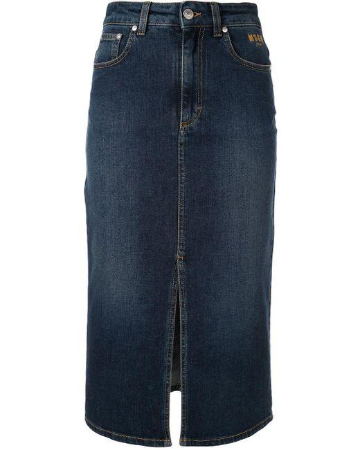 MSGM デニムスカート Blue