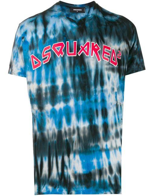 メンズ DSquared² タイダイ Tシャツ Blue