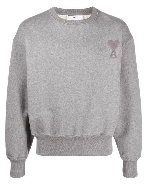 Толстовка С Вышитым Логотипом AMI для него, цвет: Gray
