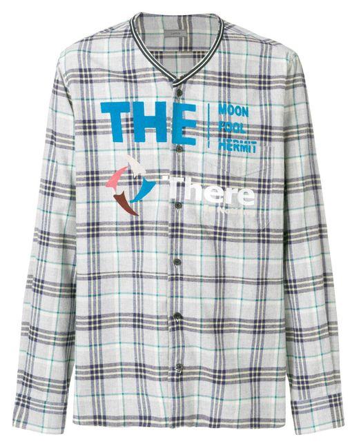 メンズ Lanvin チェックシャツ Multicolor