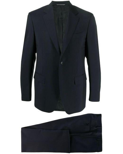 メンズ Canali ツーピース スーツ Blue
