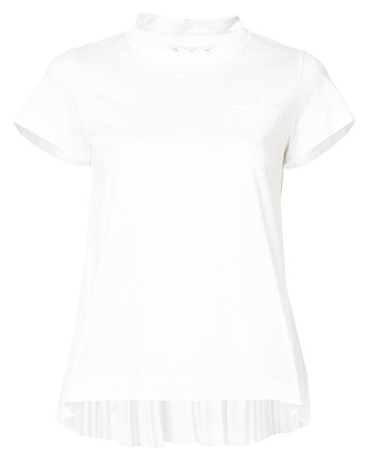 Sacai | White Jersey T-shirt | Lyst