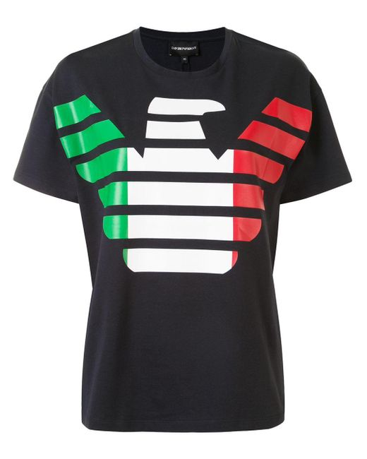 Emporio Armani プリント Tシャツ Black
