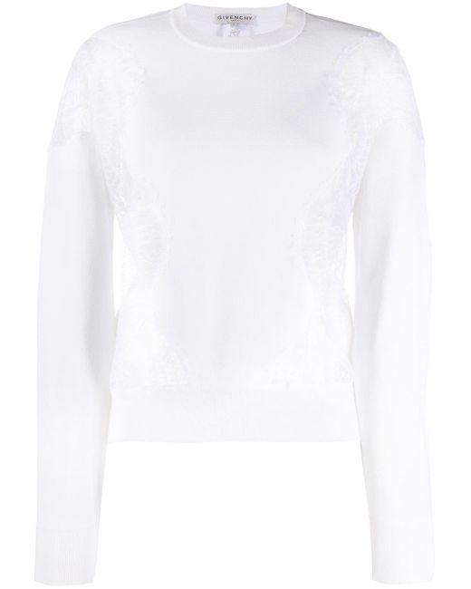 Sudadera con paneles de encaje Givenchy de color White