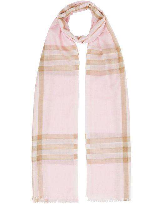 Burberry チェック スカーフ Pink