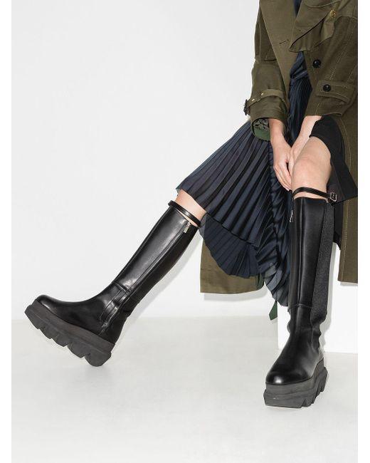 Sacai Leather Chunky-sole Knee-high