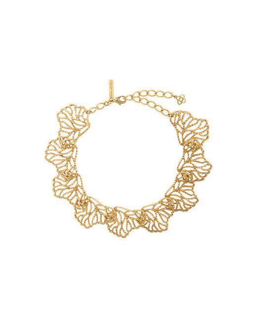 Oscar de la Renta - Metallic Coral Branch Necklace - Lyst