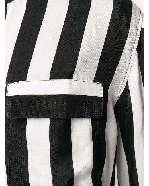 Рубашка Mao В Полоску Balmain для него, цвет: Black
