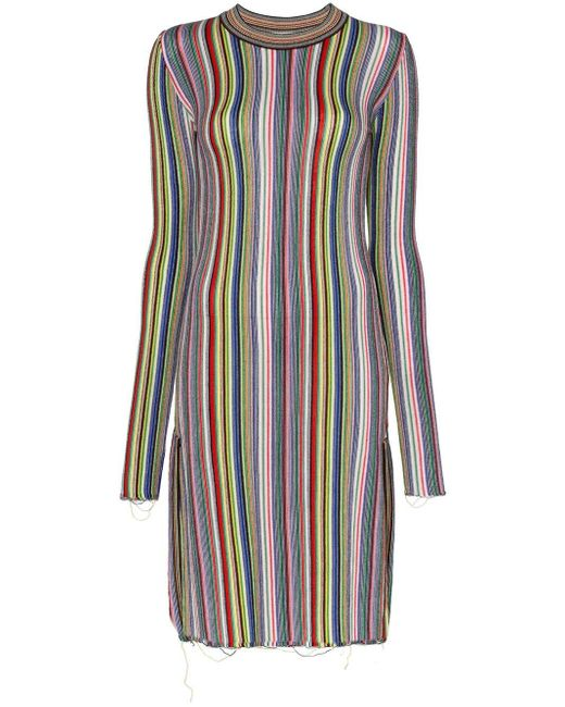 Marques'Almeida ストライプ ドレス Multicolor