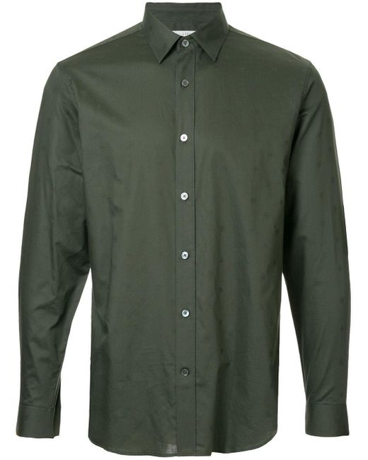 Gieves & Hawkes Green Plain Shirt for men