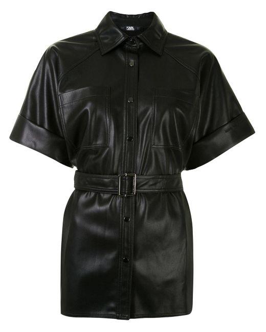 Karl Lagerfeld カーゴポケット シャツ Black