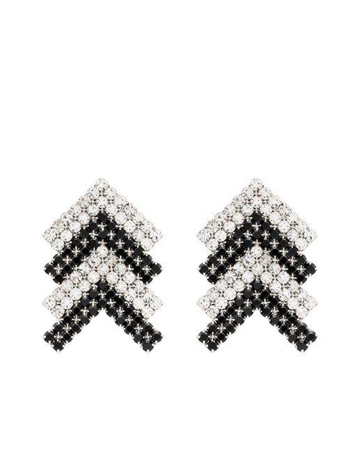 Area ロゴ クリスタル ピアス Metallic