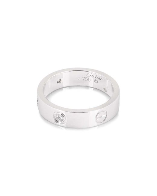 Cartier プレオウンド Love ダイヤモンド リング 18kホワイトゴールド Multicolor