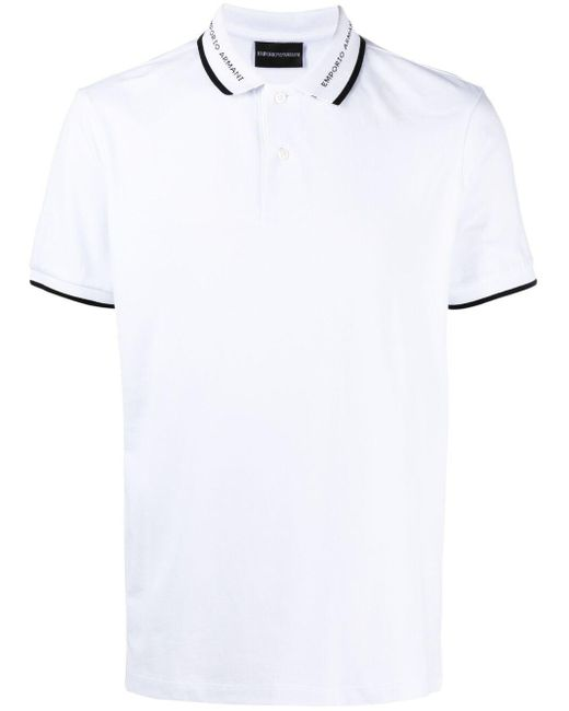 Рубашка Поло Emporio Armani для него, цвет: White