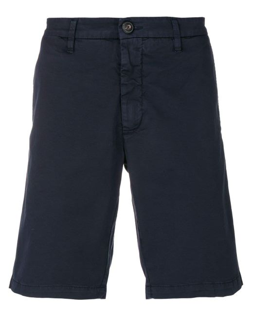 Eleventy Blue Knee-length Chino Shorts for men